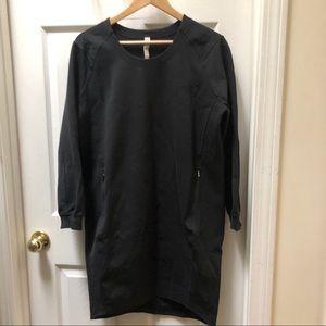 Lululemon Lab Black Sweatshirt Dress